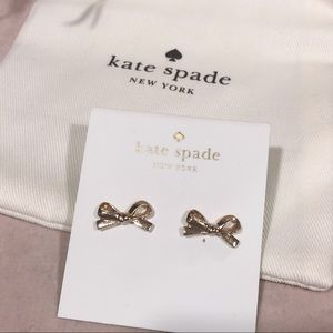 Jewelry - Kate spade bow tie gold earrings